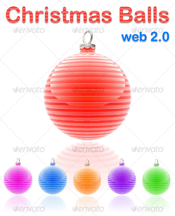 glossy christmas ball - Objects 3D Renders