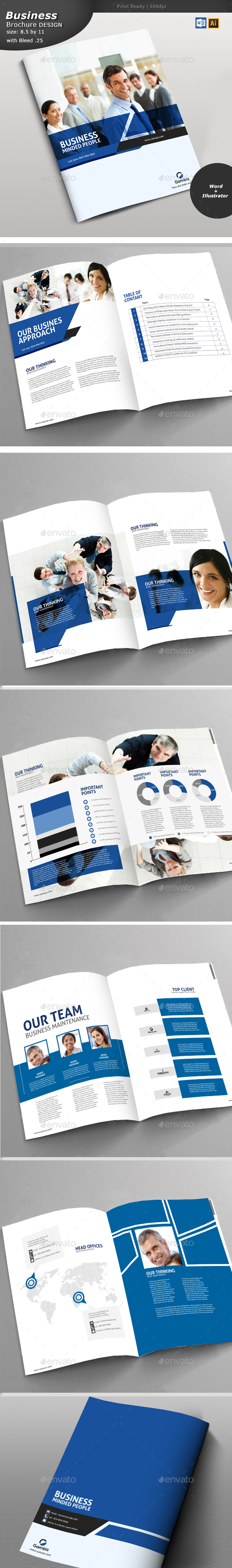 Corporate Brochure Design - Brochures Print Templates