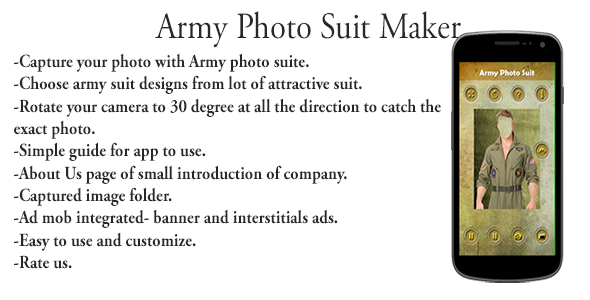 Army Photo Suit Editor For Male Female Android App - CodeCanyon Item for Sale
