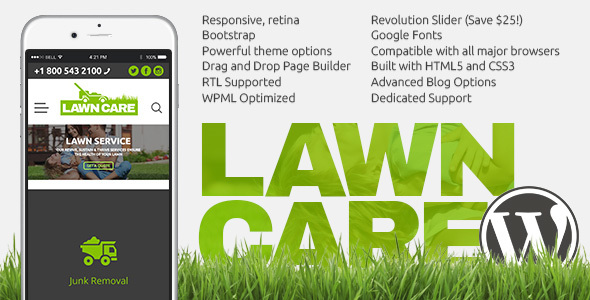 Lawn Care services – WordPress website theme