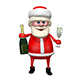 Santa Claus with Champagne - VideoHive Item for Sale