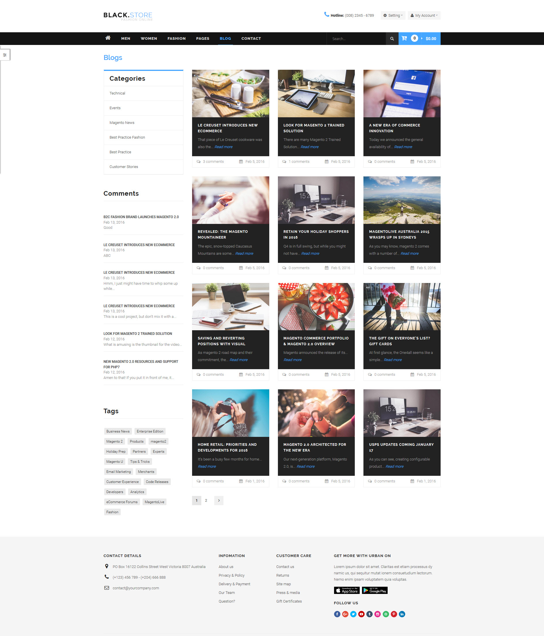 Ves Blackstore Magento 2 Template With Pages Builder
