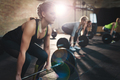 Getting fit and strong lifting weights