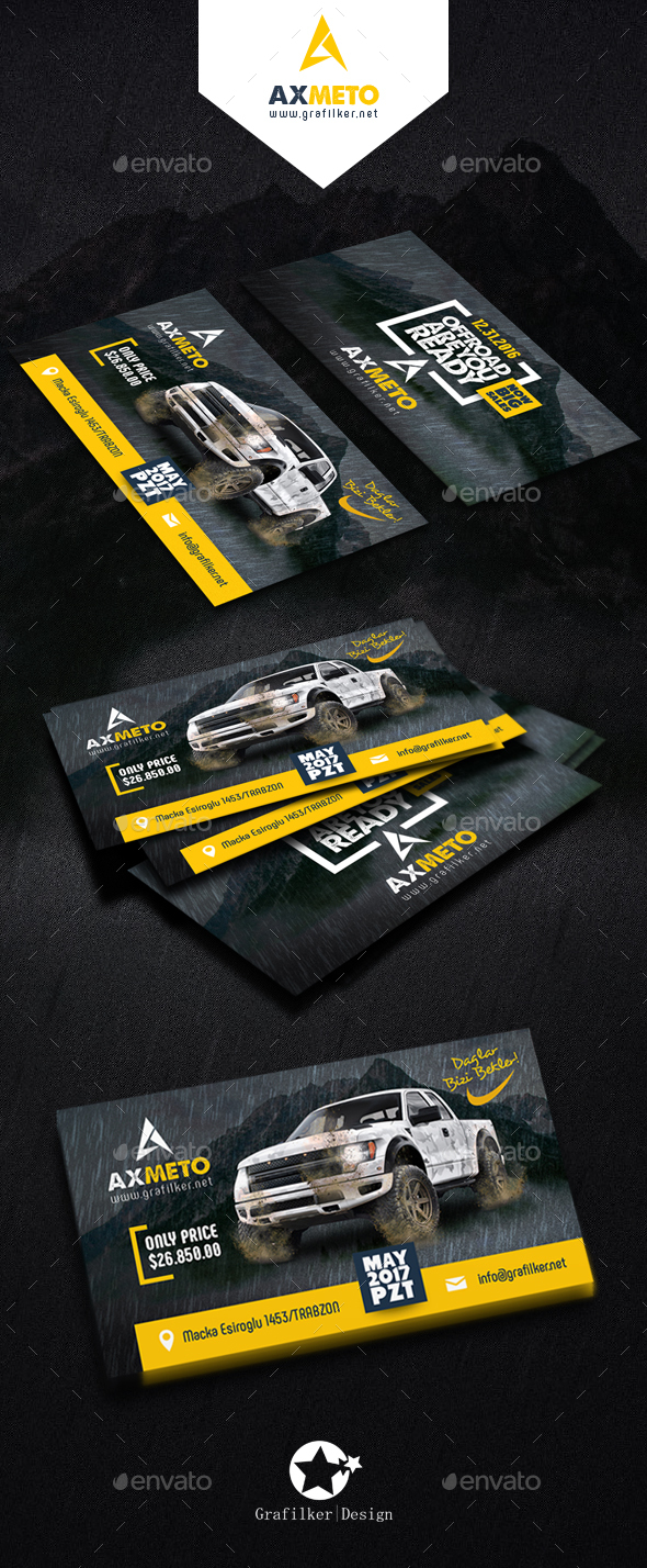 Off road adventure business card templates by grafilker graphicriver off road adventure business card templates corporate business cards reheart Image collections