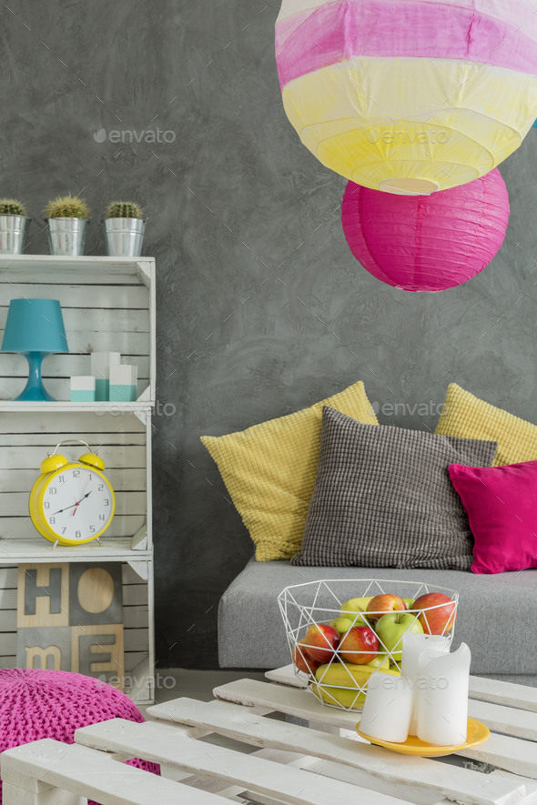 DIY room decorating - Stock Photo - Images