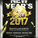 New Year`s Eve flyer template - GraphicRiver Item for Sale