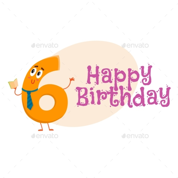 Happy Birthday Vector Greeting Card Design with - Birthdays Seasons/Holidays