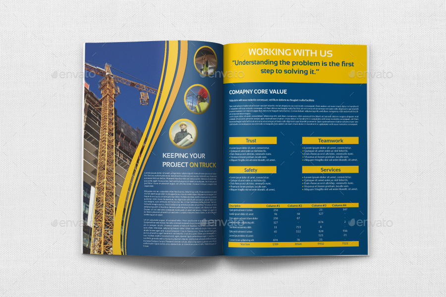Construction Brochure Templates Images Pin By G On Griffin - Construction brochure templates
