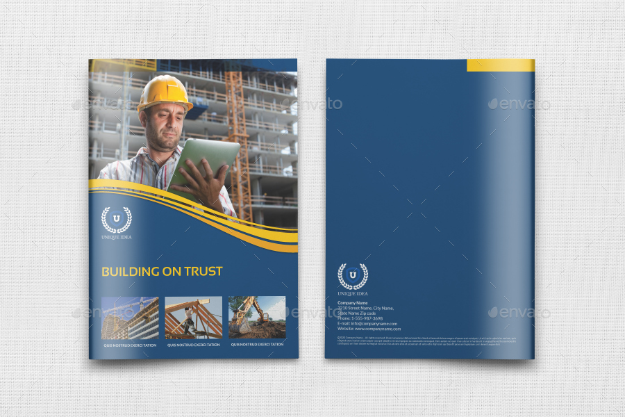 Construction Brochure Template Vol3 By Owpictures Graphicriver