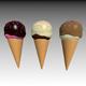 Three Ice Cream Cones - 3DOcean Item for Sale