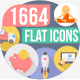 1664 Flat Trending Icons - GraphicRiver Item for Sale