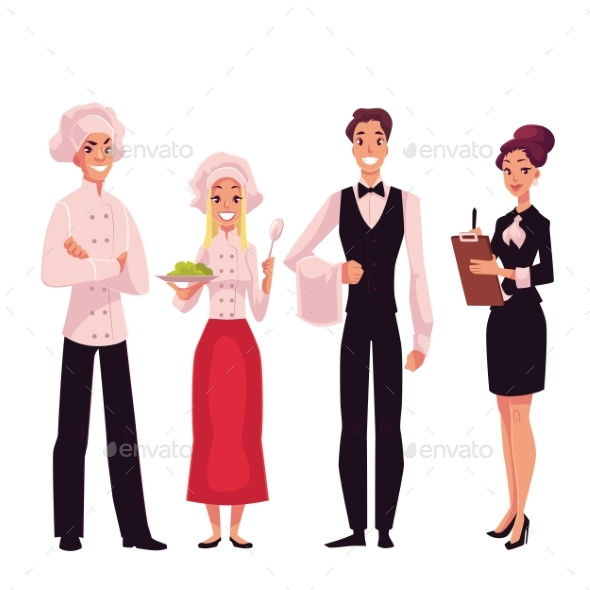 Cafe or Restaurant Team - Chef, Cook, Waiter and - Concepts Business