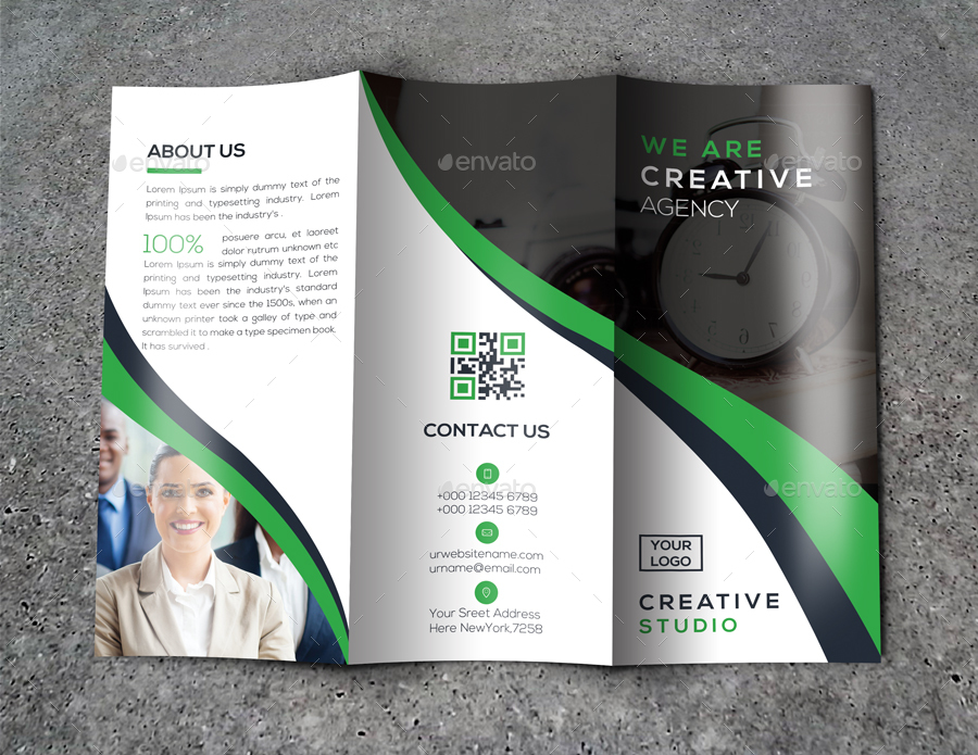 trifold brochure by twin