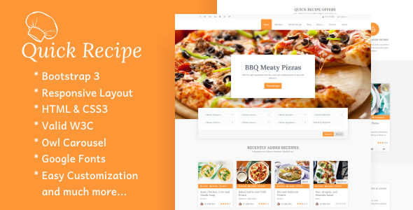 Quick Recipe – Food & Recipes WordPress Theme