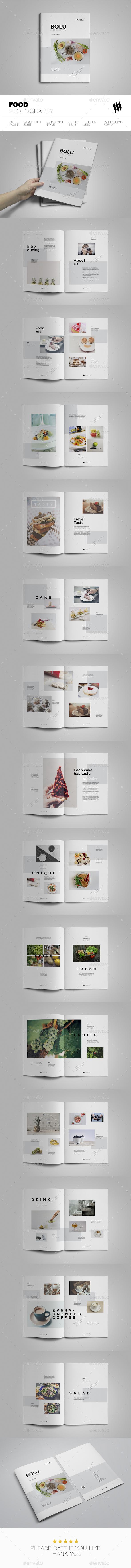 Food Photography - Brochures Print Templates
