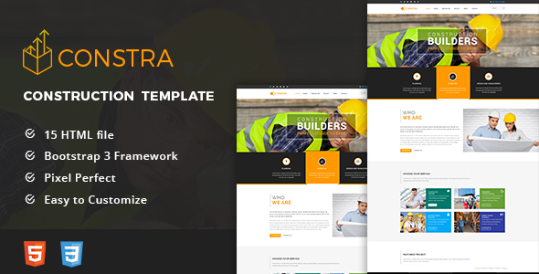 Constra – HTML5 Construction & Business Template