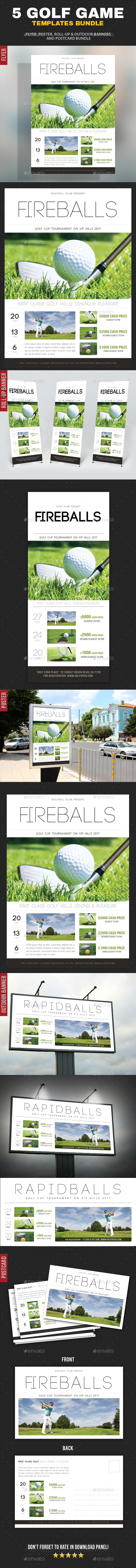 5 in 1 Golf Game Bundle - Signage Print Templates