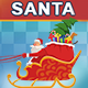 Animated Santa Riding On Reindeer Sled - VideoHive Item for Sale