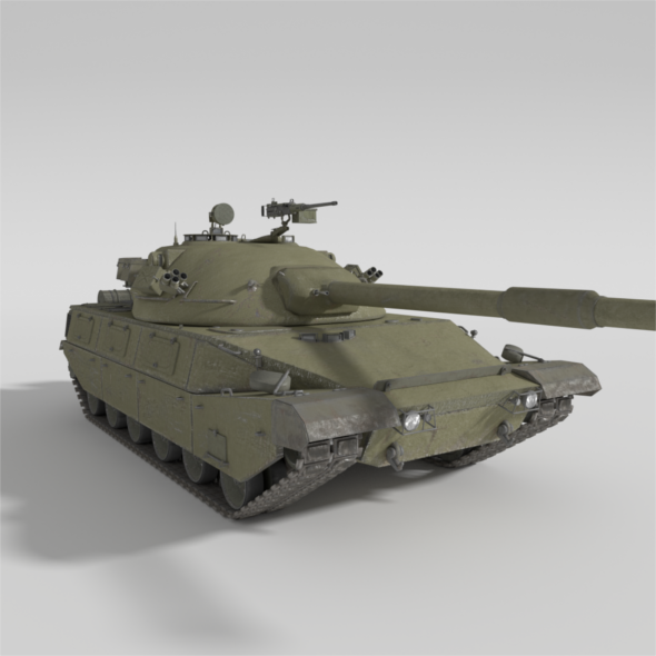 ABT-120 - Realistic Cold War Era MBT - 3DOcean Item for Sale