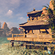 Chinese House In The Bay With Clear Water - VideoHive Item for Sale