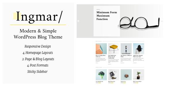 Ingmar – Modern Lifestyle WordPress Theme