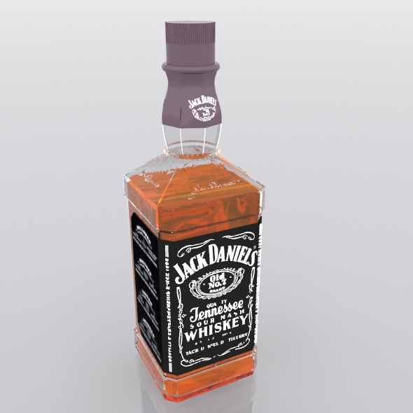 Jack Daniels bottle - 3DOcean Item for Sale