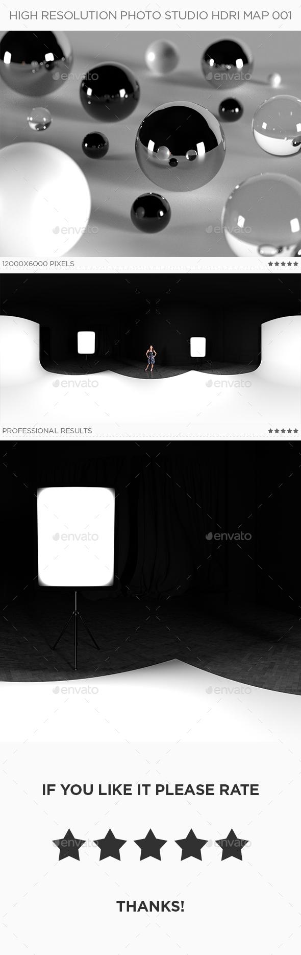 High Resolution Photo Studio HDRi Map 001 - 3DOcean Item for Sale