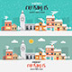 Flat Design Urban Winter Landscape - GraphicRiver Item for Sale
