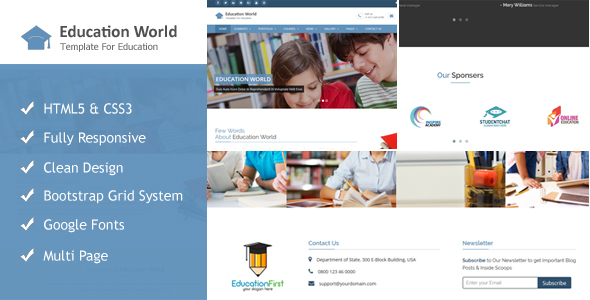 Education World Responsive Html Template