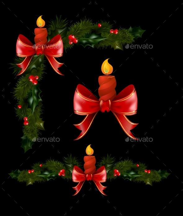 Christmas Decorations with Fir Tree - Christmas Seasons/Holidays