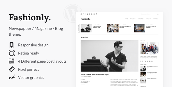 Fashionly – Responsive WordPress Blog Theme