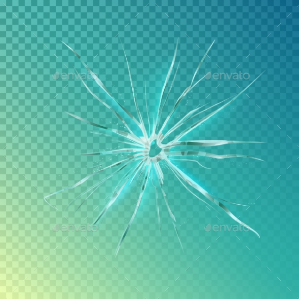 Glass Shattered Screen - Backgrounds Decorative