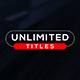 Unlimited Minimal Titles - VideoHive Item for Sale