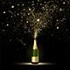 Champagne Gold Confetti Splashes - GraphicRiver Item for Sale