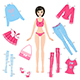 Paper Doll with Set of Clothes - GraphicRiver Item for Sale