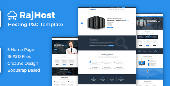 RajHost – Web Hosting with WHMCS PSD Template