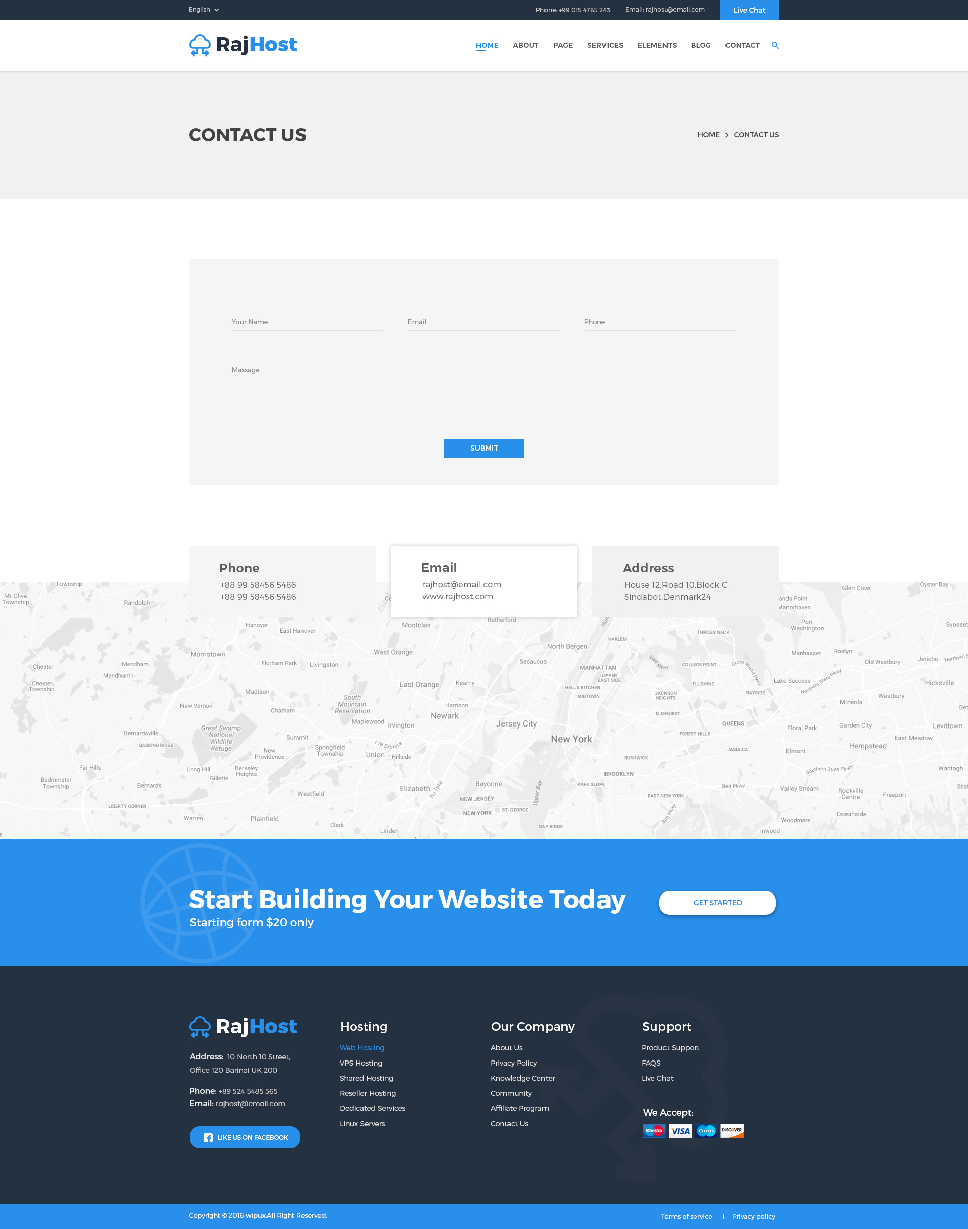 RajHost - Web Hosting with PSD Template by RegalTheme   ThemeForest