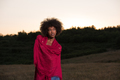 outdoor portrait of a black woman with a scarf - PhotoDune Item for Sale