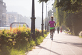 african american woman jogging in the city - PhotoDune Item for Sale
