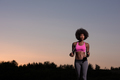 young african american woman in nature - PhotoDune Item for Sale