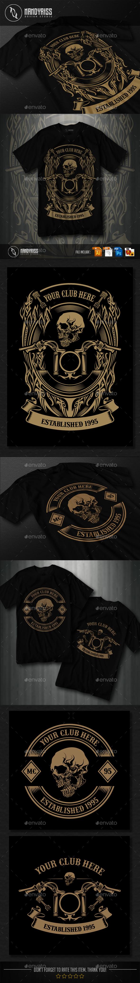 3 Design - Motorcycle Club T-shirt - T-Shirts
