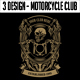 3 Design - Motorcycle Club T-shirt - GraphicRiver Item for Sale