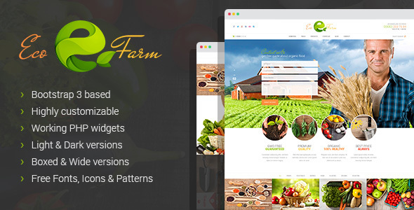 Eco Farm - Organic Food Growing HTML Template