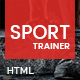 Sport Trainer - Boxing, Yoga and Crossfit Trainer HTML template with Builder