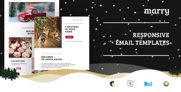 Merry – Christmas Email Templates Set + StampReady Builder