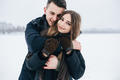 guy hugging his girlfriend from behind - PhotoDune Item for Sale