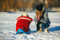 mother and daughter in winter outdoors - PhotoDune Item for Sale
