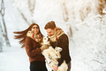 Young couple having fun in winter park - PhotoDune Item for Sale