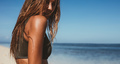 Sensuous young woman on the beach - PhotoDune Item for Sale