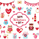Set of Valentine's Day Icons - GraphicRiver Item for Sale